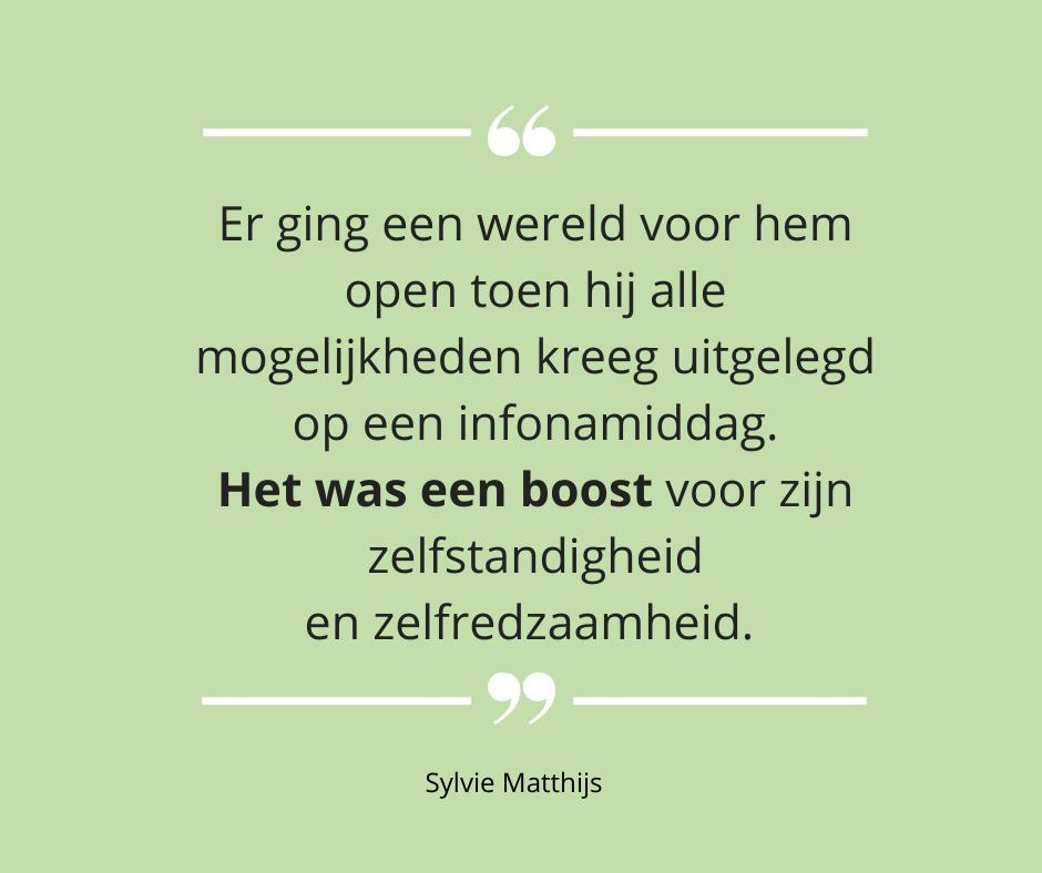 Testimonial Sylvie Matthijs