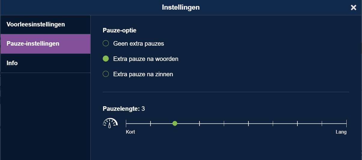 Woordpauzes in SprintPlus.online